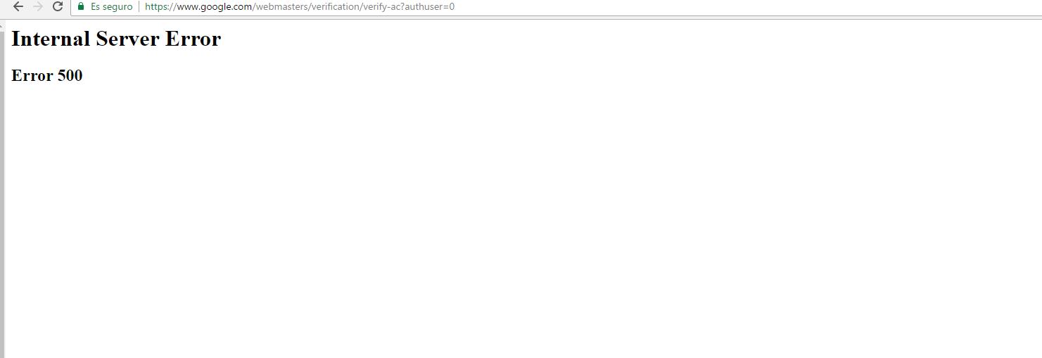 google error 500